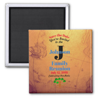 Old World Map Save The Date Family Reunion - Magnet