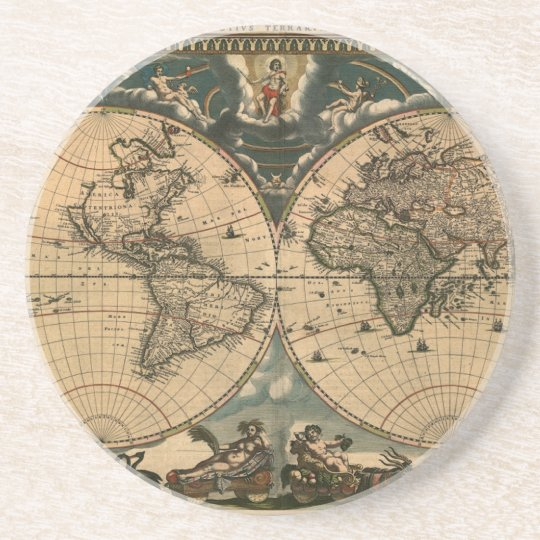 Old world map vintage earth gift coaster zazzle old world map vintage earth gift coaster gumiabroncs Gallery