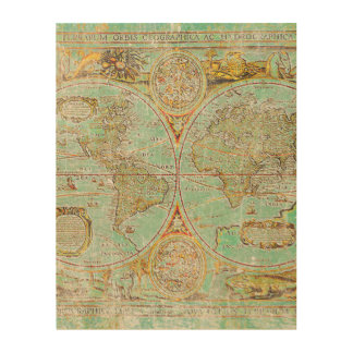 Old World Map Wood Wall Decor
