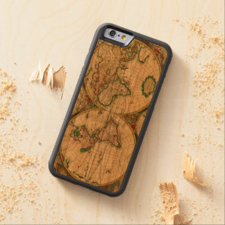 Old world Maps Carved Cherry iPhone 6 Bumper Case