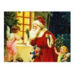 Old World Santa Christmas Postcard