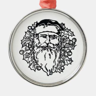Old World Santa Metal Ornament