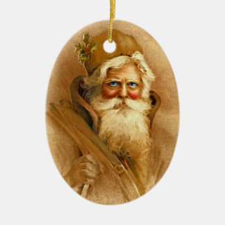 Old World Victorian Santa Claus Ceramic Ornament