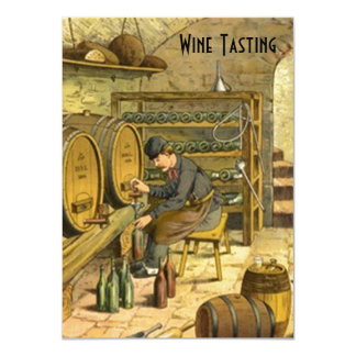 Old World Wine Tasting Party Invitations Announce
