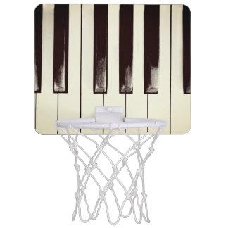 Old Worn Piano Keys Mini Basketball Hoop