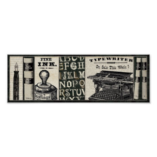 Old Writing Instruments Poster