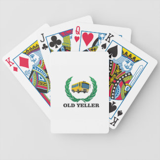 old yeller bus fun poker deck