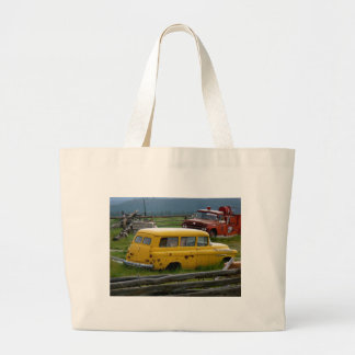 Old Yellow Car Tote Bags