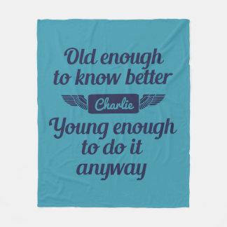 """""""Old & Young"""" custom name fleece blankets"""
