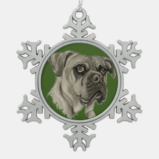 Olde English Bulldogge  Ornament by Carol Zeock