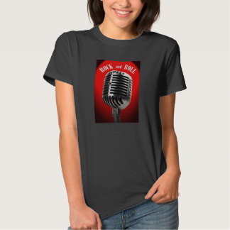 Olde Time Rock and Roll Ladies T-shirt. Tee Shirt
