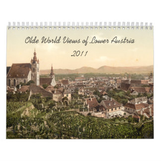 Olde World Views of Lower Austria Wall Calendar