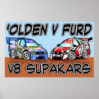Olden v Furd V8 SupaKars Poster