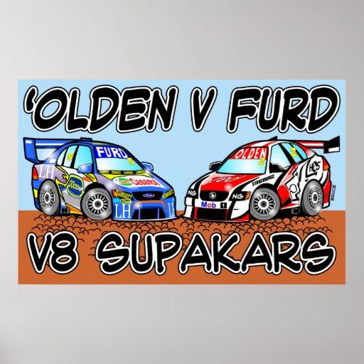 Olden v Furd V8 SupaKars Posters