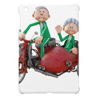 Older Couple on a Moped with Sidecar Case For The iPad Mini