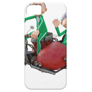 Older Couple on a Moped with Sidecar iPhone 5 Cover