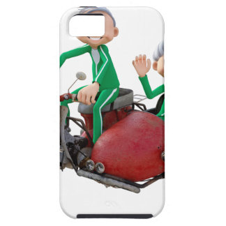 Older Couple on a Moped with Sidecar iPhone 5 Covers