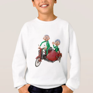 Older Couple on a Moped with Sidecar Sweatshirt