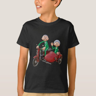 Older Couple on a Moped with Sidecar T-Shirt