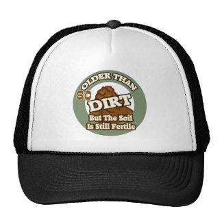 Older Than Dirt 80th Birthday Gifts Mesh Hat