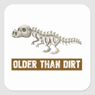 Older than dirt square sticker