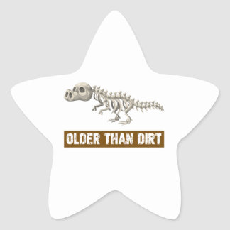 Older than dirt star sticker