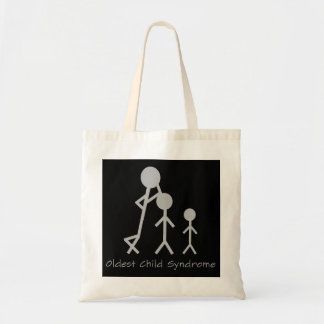 Oldest child syndrome funny tote bag