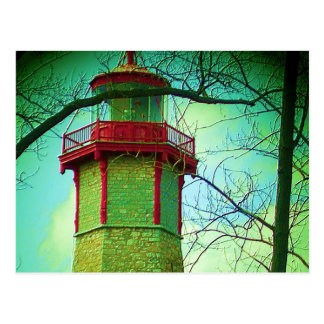 Oldest LIGHT HOUSE at Toronto Centre Island Postcard