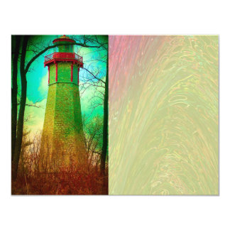 Oldest Light House in Toronto 11 Cm X 14 Cm Invitation Card