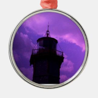 Oldest Light House - Toronto Centre Island Round Metal Christmas Ornament