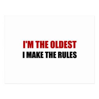 Oldest Make The Rules Postcard