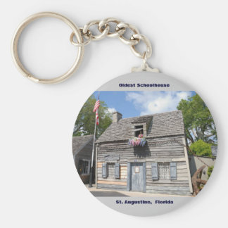 Oldest School House St. Augustine Fl Key Ring
