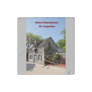 Oldest Wooden Schoolhouse Stone Magnet