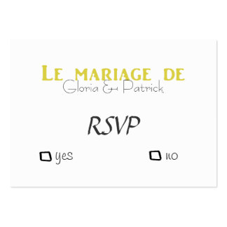 Oldfahioned French wedding rsvp Pack Of Chubby Business Cards