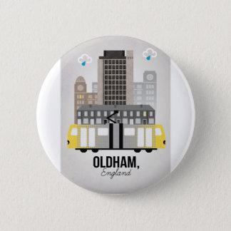 Oldham 6 Cm Round Badge
