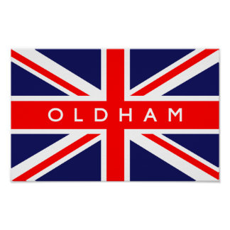 Oldham UK Flag Posters