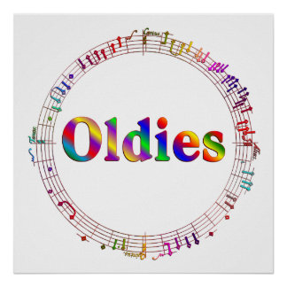 Oldies Music Poster