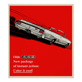 Olds 442 vintage advertisement poster