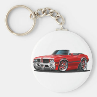 Olds Cutlass Red Convertible Key Ring