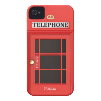 Oldschool British Telephone Booth iPhone 4 Cover