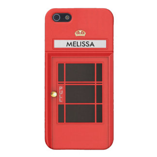 Oldschool British Telephone Booth iPhone 5/5S Covers