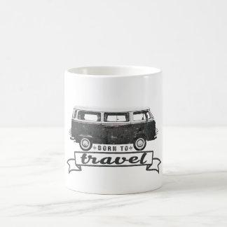 Oldschool van Born to Travel quote Coffee Mug