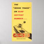 Oldsmobile 442 - vintage folder page reproduction poster