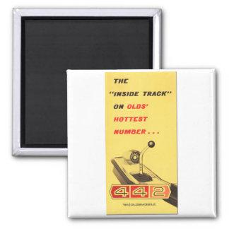 Oldsmobile 442 - vintage folder page reproduction square magnet