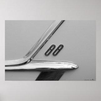 Oldsmobile 88 Badge Poster