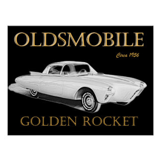Oldsmobile Golden Rocket Poster