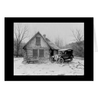 Oldsmobile Log Cabin 1920 Card