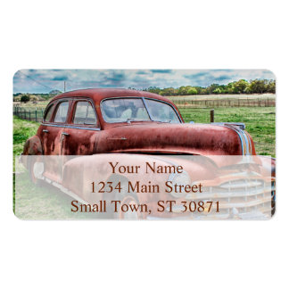 Oldsters Classic Car Vintage Automobile Old Rusty Pack Of Standard Business Cards
