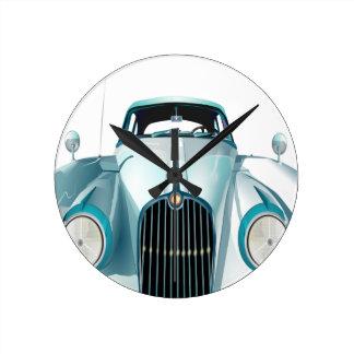 oldtimer car vintage automobile round clock