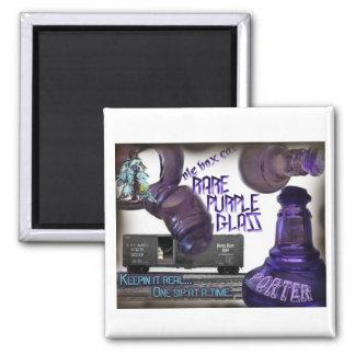 Ole Box Car Rare Purple Glass Porter Fridge Magnet